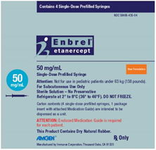 Enbrel Packaging Label