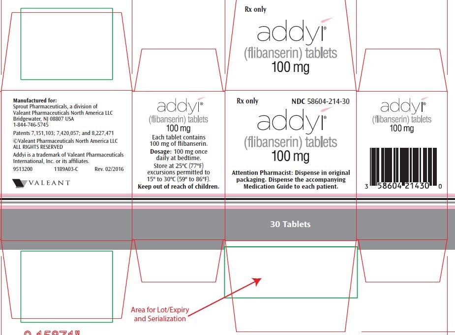 Addyi Packaging