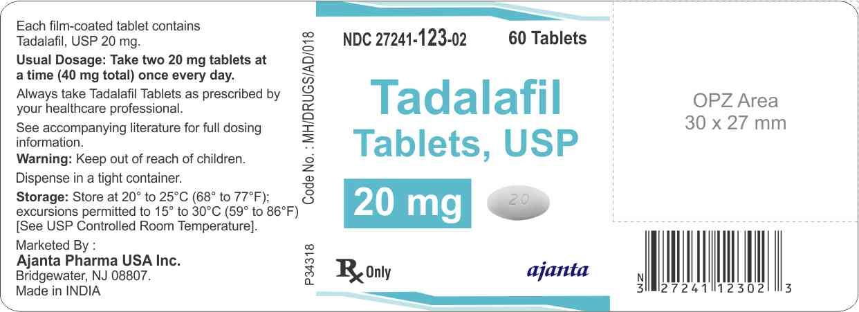 Tadalafil Packaging