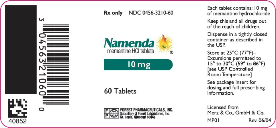 Namenda 10mg label manufacturing location