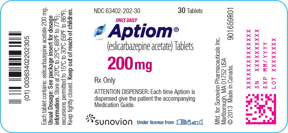 aptiom manufacturing label