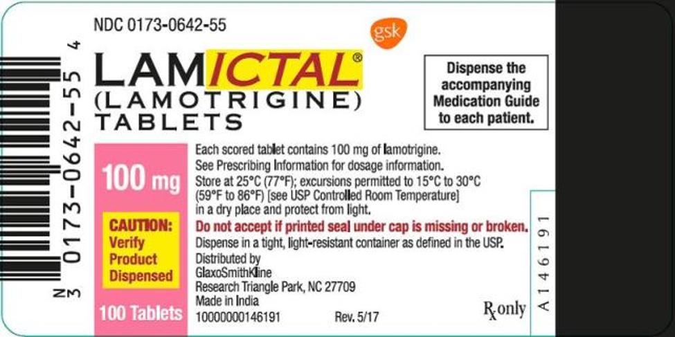 lamictal manufacturing label