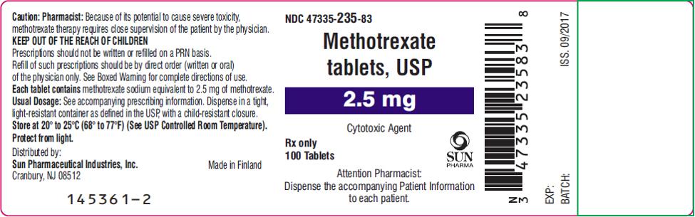 methotrexate label