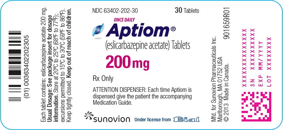 aptiom label manufactured
