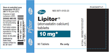 Lipitor 10mg Packaging