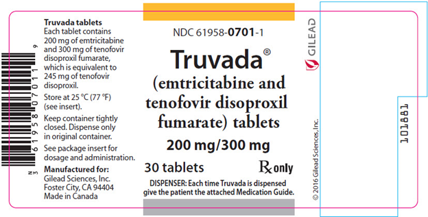 Truvada Packaging