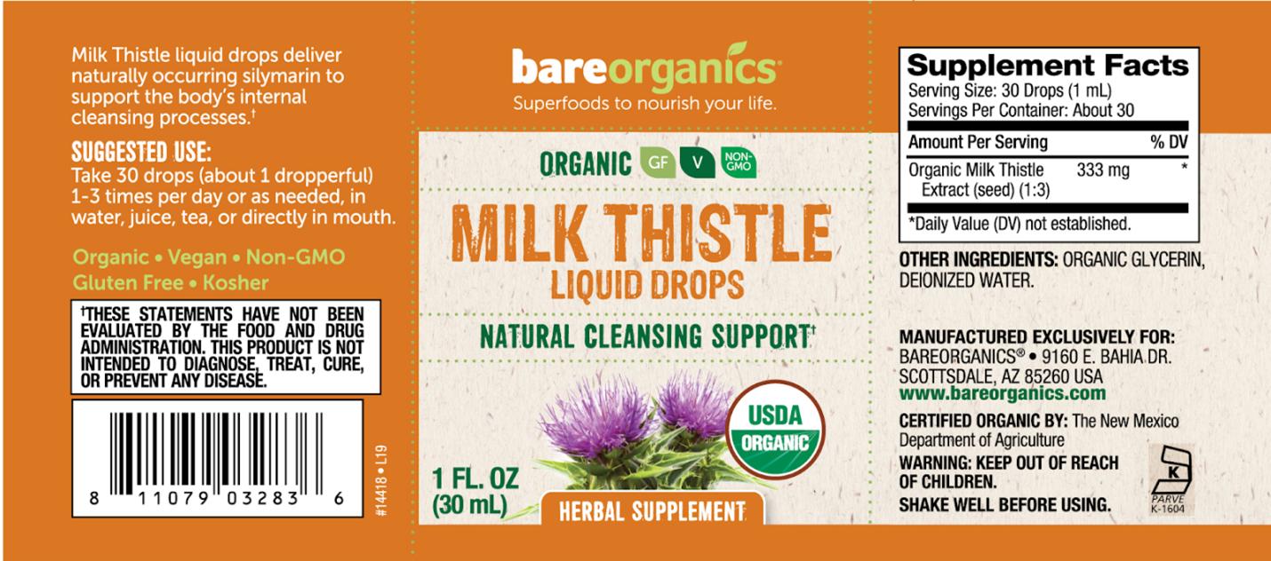 bare organics milk thistle
