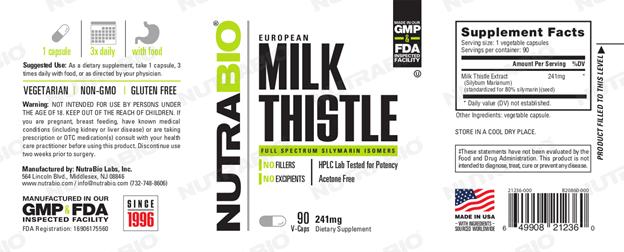 nutrabio milk thistle